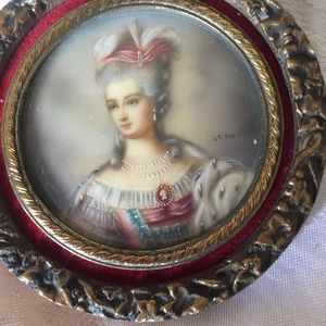 Antique signed by artist miniature paintings
